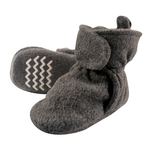Charcoal Gray Fleece Lined Scooties With Non Skid Bottom