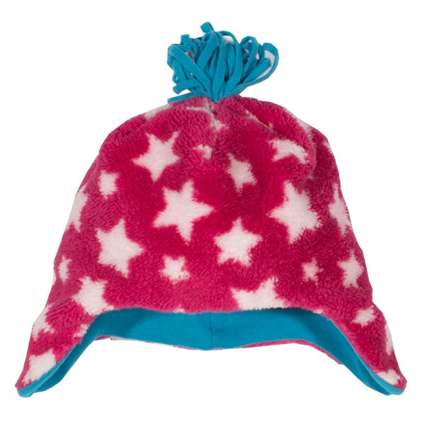 Pink Star Fleece Hat