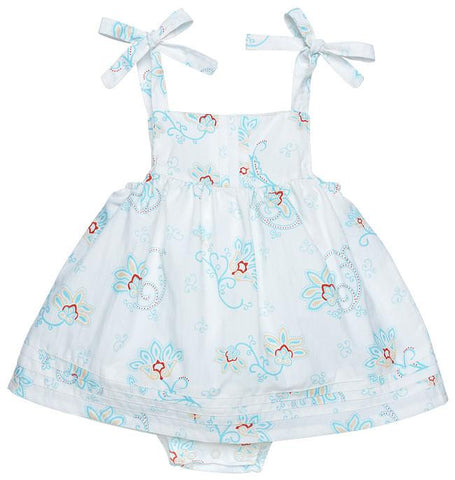Bubble Dress With Pintucks- Princess Petal Poplin