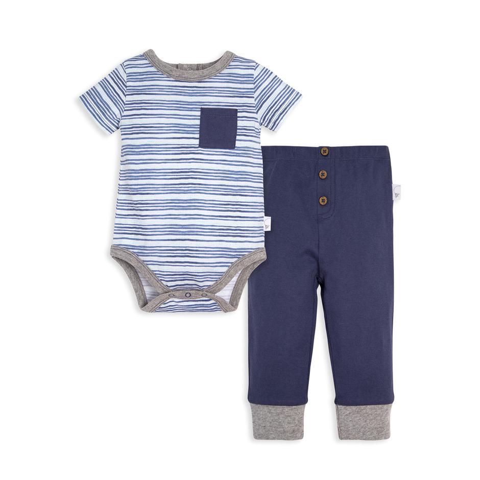 On The Road WaterColor Stripe Bodysuit & Pant Set