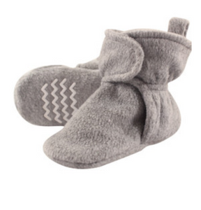 Light Gray Fleece Lined Scooties W/ Non Skid Bottoms