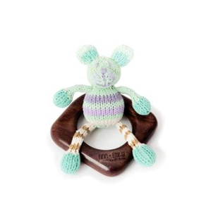 Bamboo Teething Ring W/ Buddy