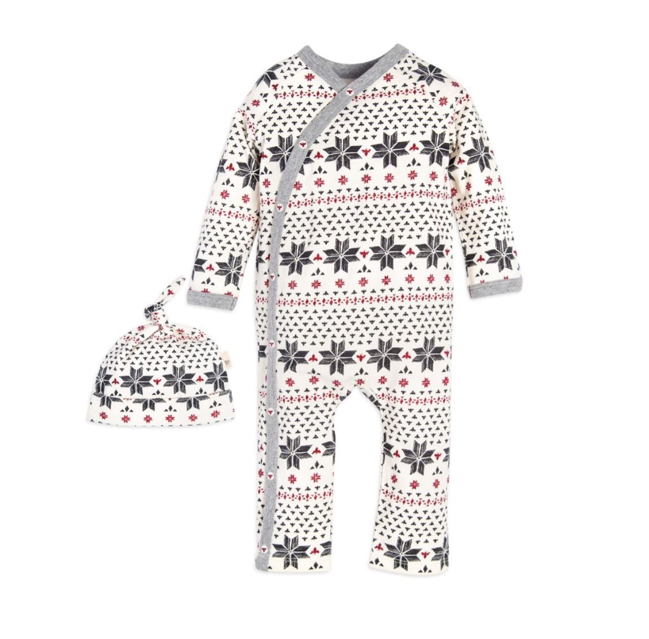 Fair Isle Kimono One Piece Jumpbee & Hat Set