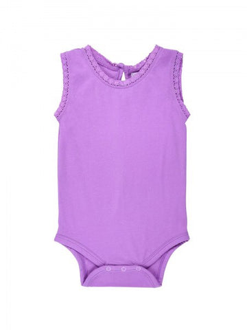 Lucy Lace Tank Bodysuit - Spring Purple