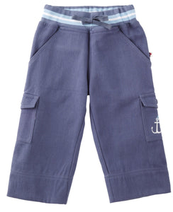 Blue Rib Waist Baby Trousers
