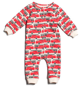 French Terry Firetrucks Jumpsuit