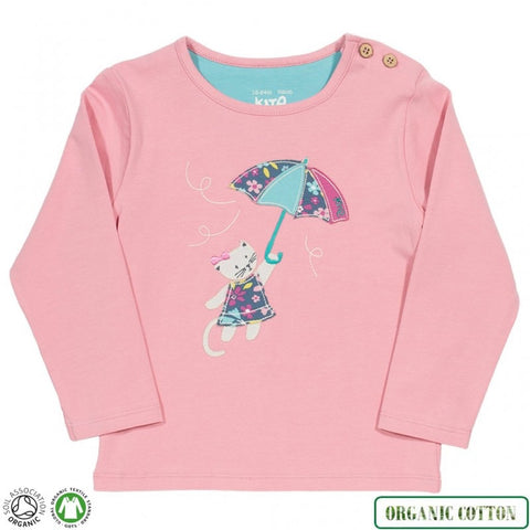 Cat Umbrella Long Sleeve Shirt