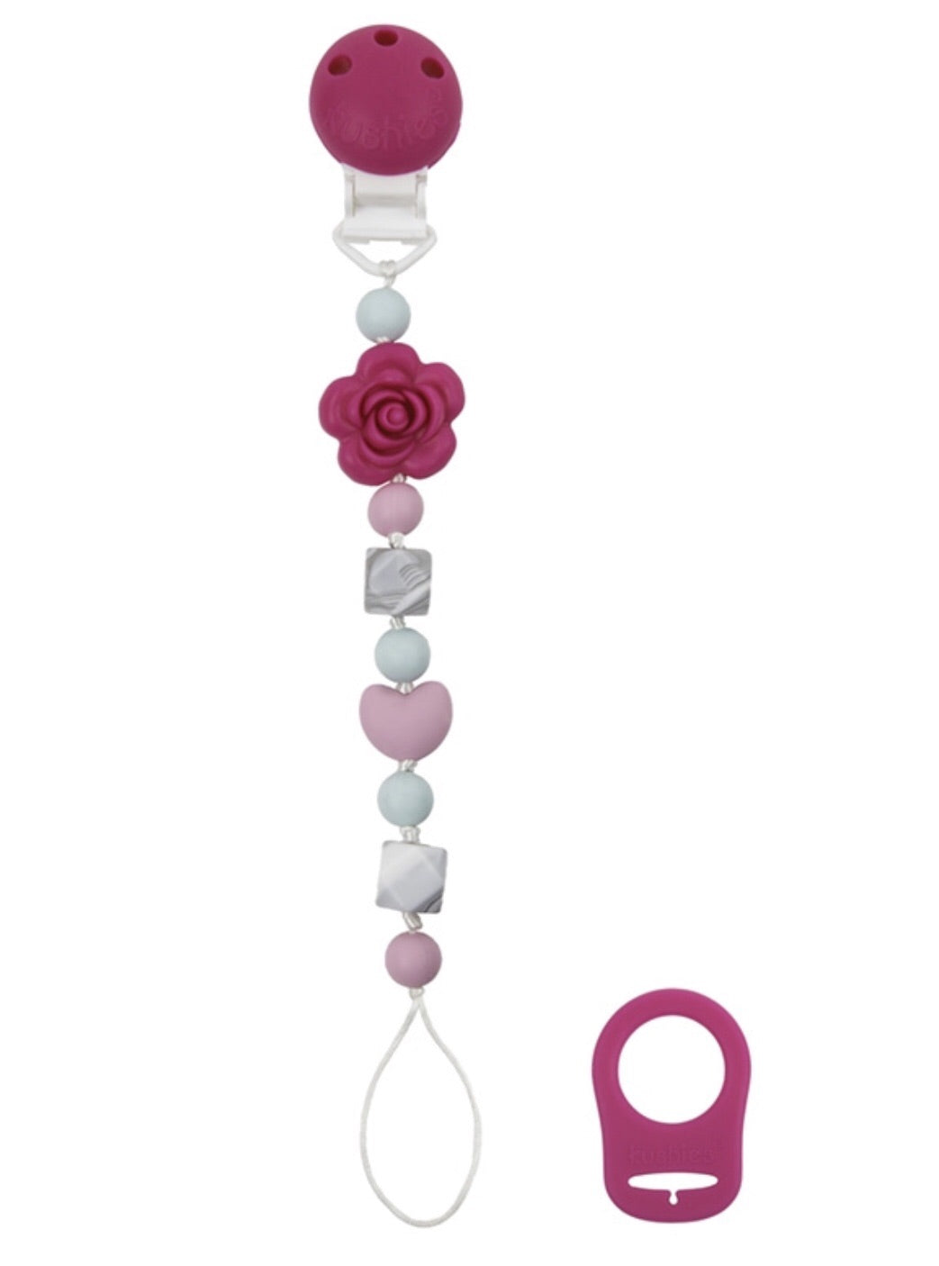 Silibeads Pacifier Clip - Flower