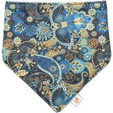 Smart bottoms - blue/gold bandana bib