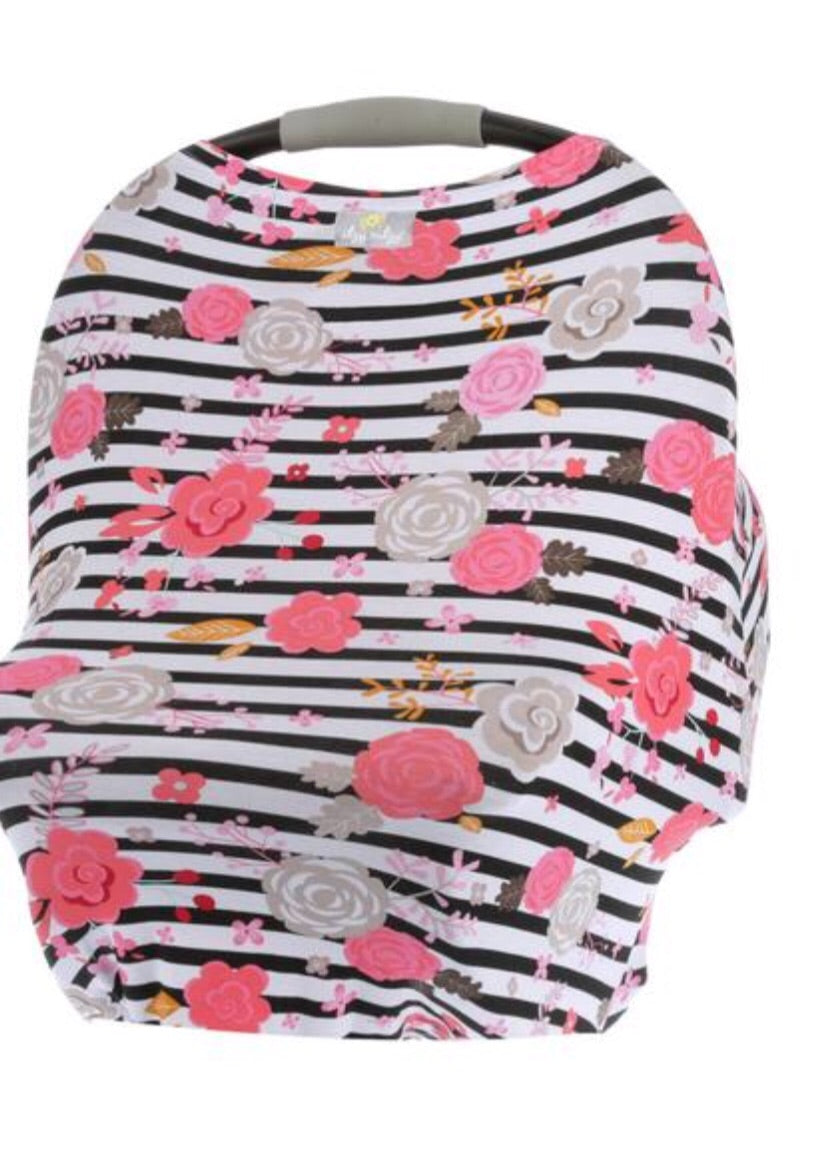 Mom Boss 4-IN-1 Multi-Use Cover (Floral Stripe)