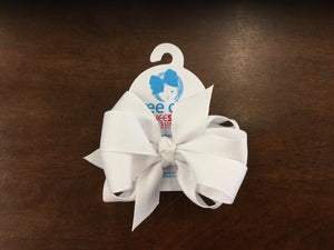 White Double Grosgrain Bow