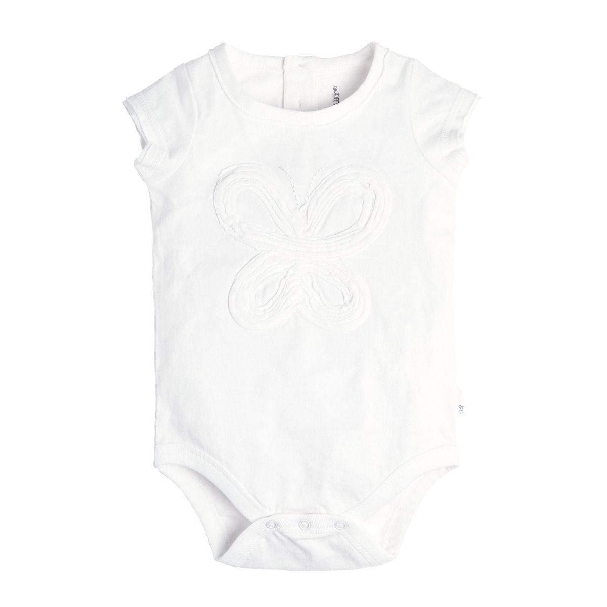 Baby Frilly Butterfly Bodysuit- White