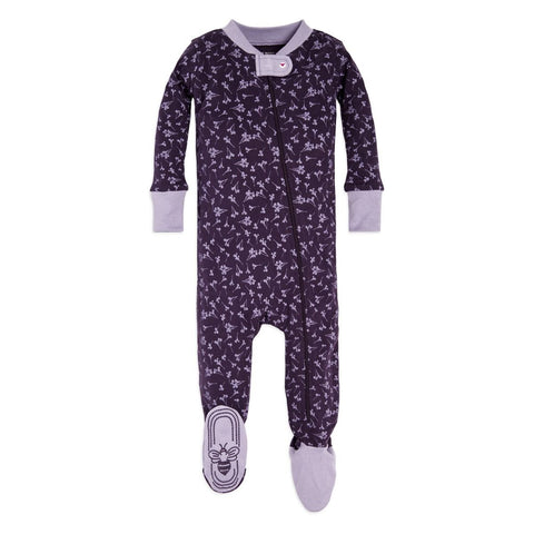 Dusty Dandelion Footed Sleeper - Aubergine