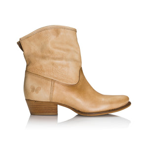 Felmini leather sand boot - Booty Shoes