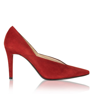 Moda Scalloped edge Heel - Booty Shoes