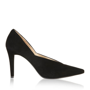 Moda Scalloped  Heel - Booty Shoes