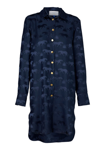 Fontana Shirt Dress - Navy Jaguar