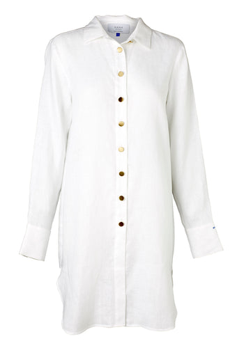 Fontana Shirt Dress - White Linen