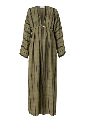 Saint Germain Robe - Khaki Linen