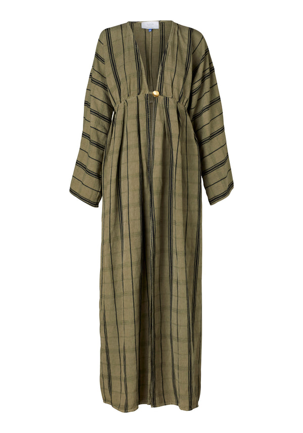Saint Germain Robe (Khaki Linen)