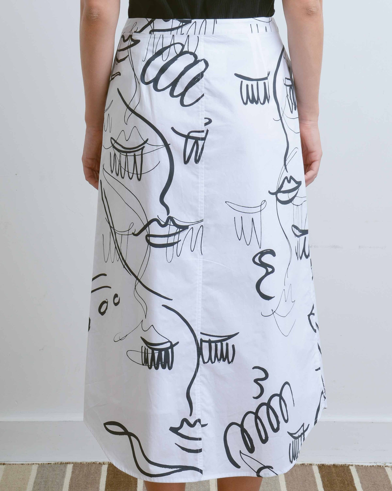 White Printed Dreamer Skirt