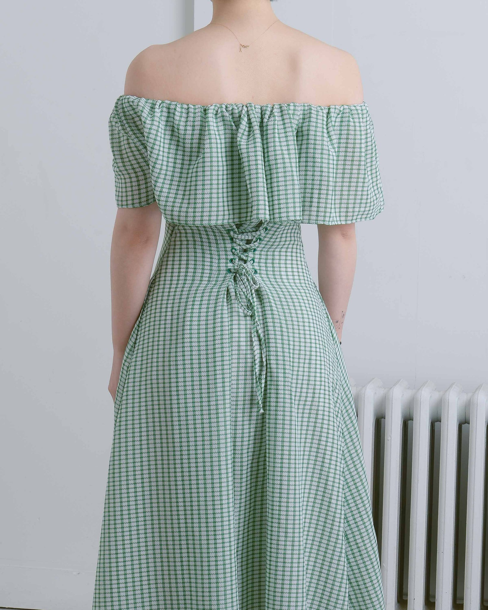 Gingham Olivia Off-The-Shoulder Dress