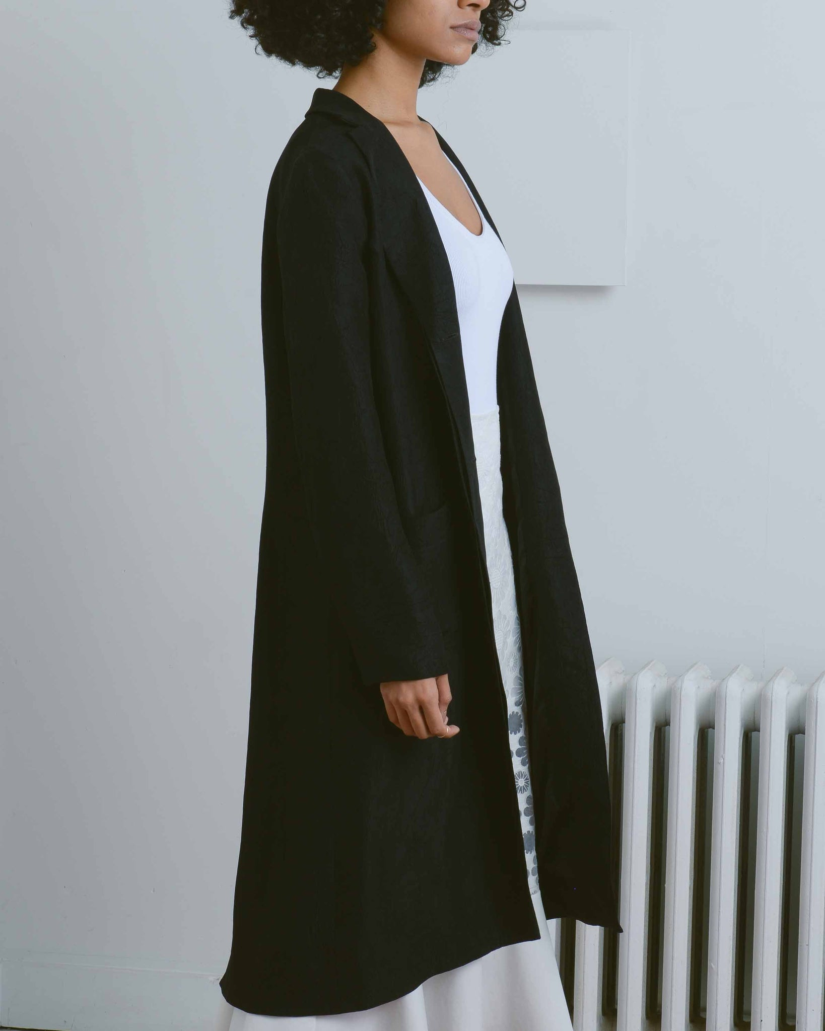 Slit Back Duster With Carabiner
