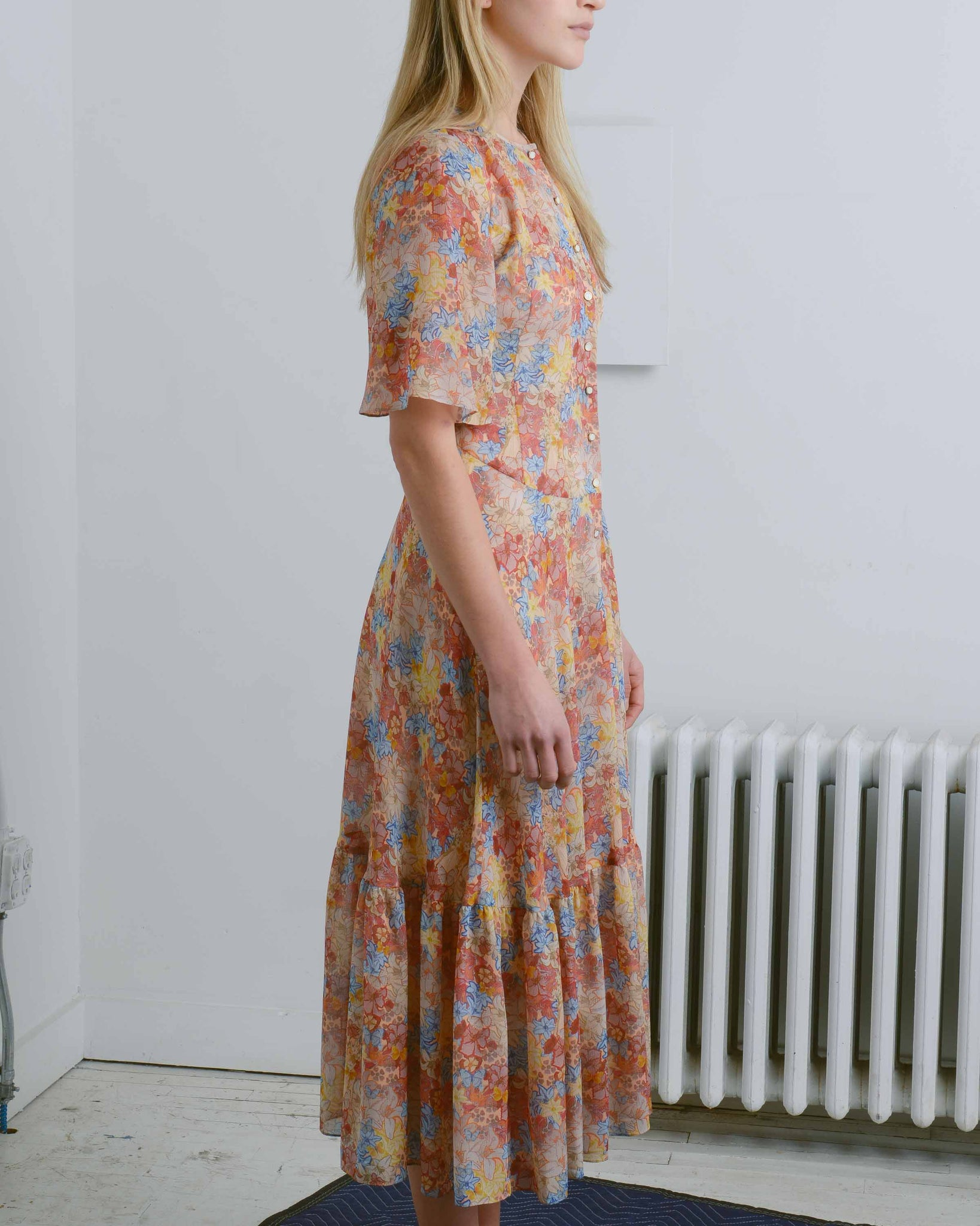 Silk Floral Emma Dress