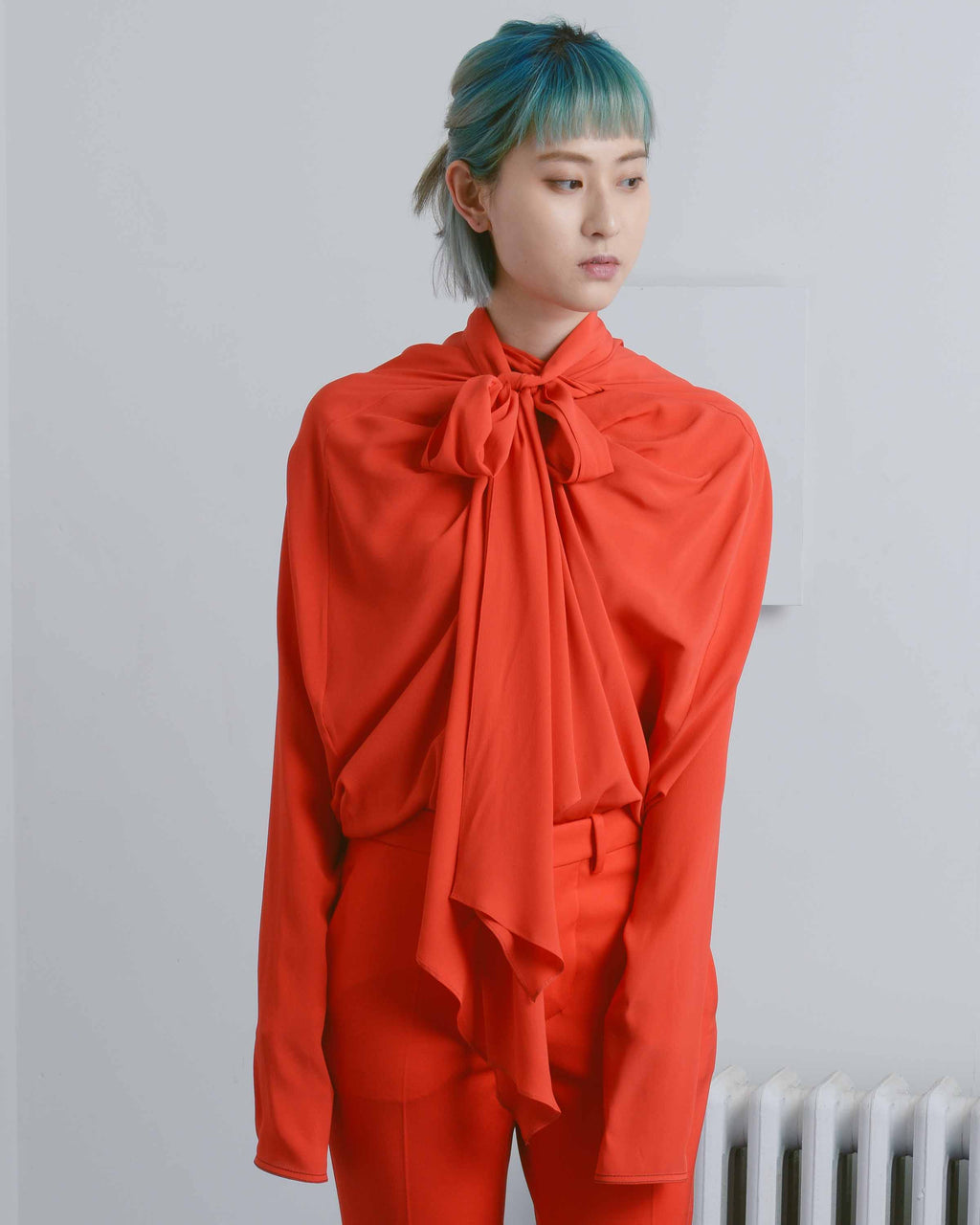 Red Foulard Blouse