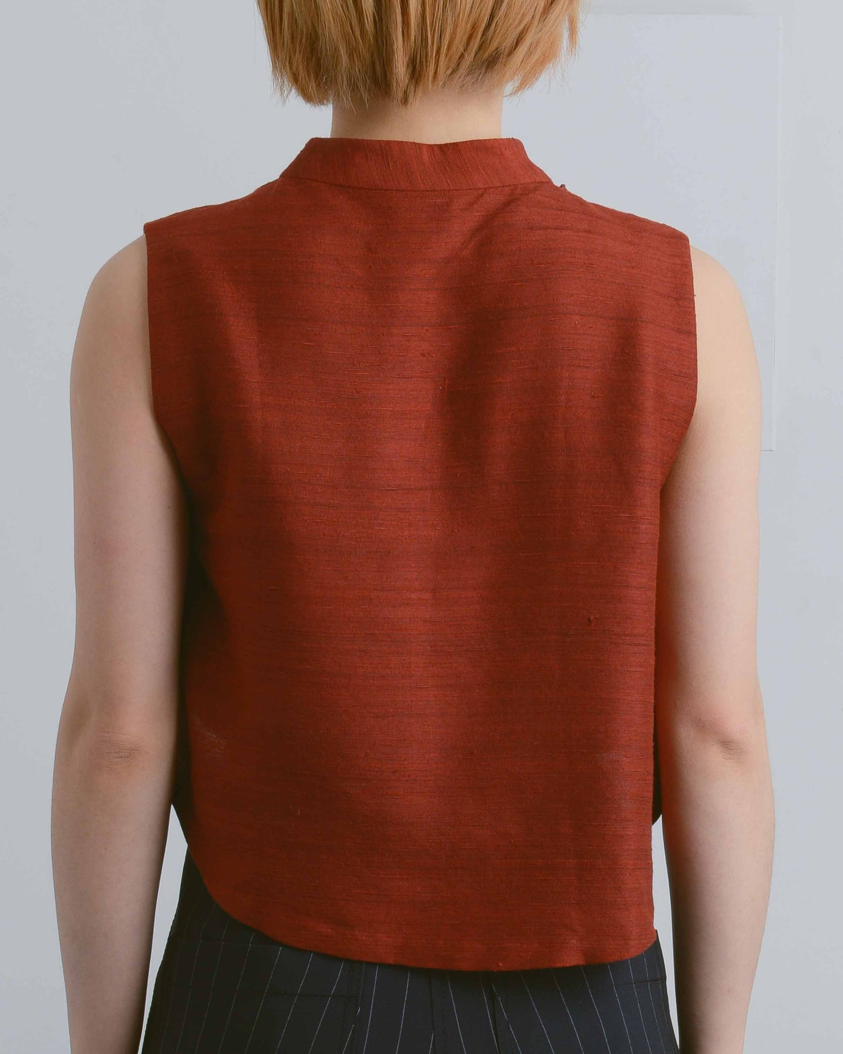 Red Silk Windchime Crop Top