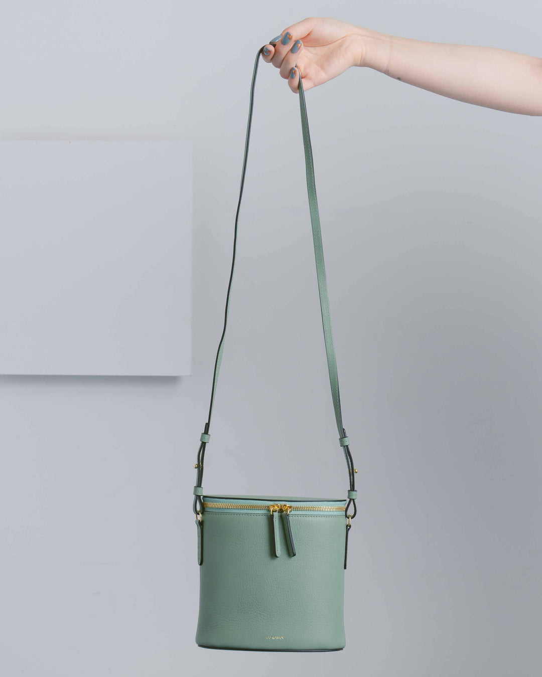 Green Perla Bucket Bag