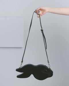 Black Rabbit Head Leather Bag