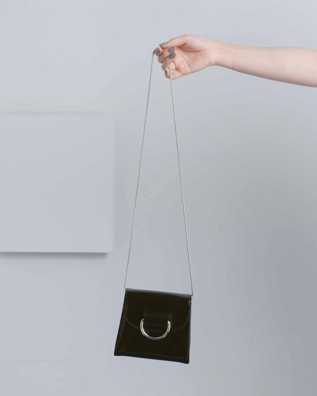 Patent Leather Tiny Box Bag