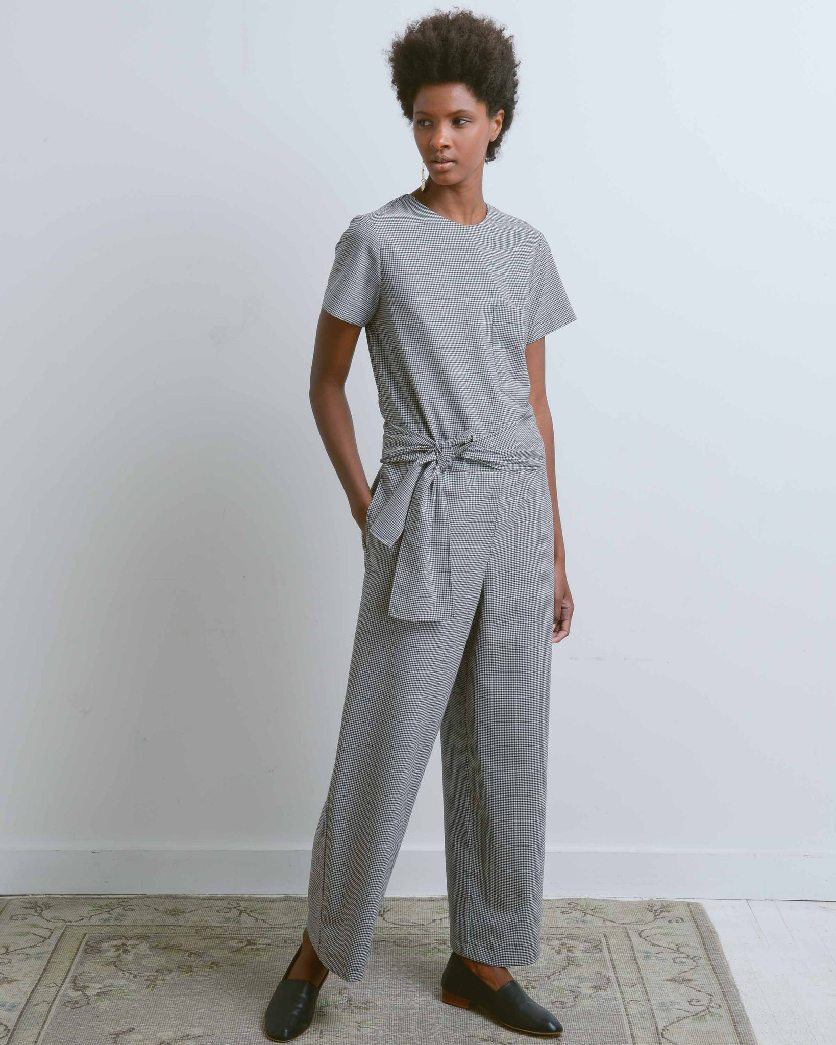 Lane Check Suiting Jumpsuit
