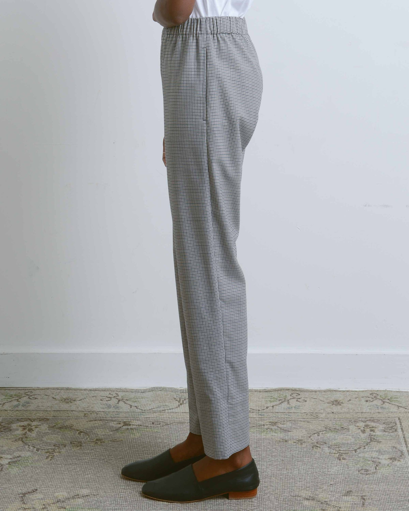 Molly Check Suiting Pull-On Pant