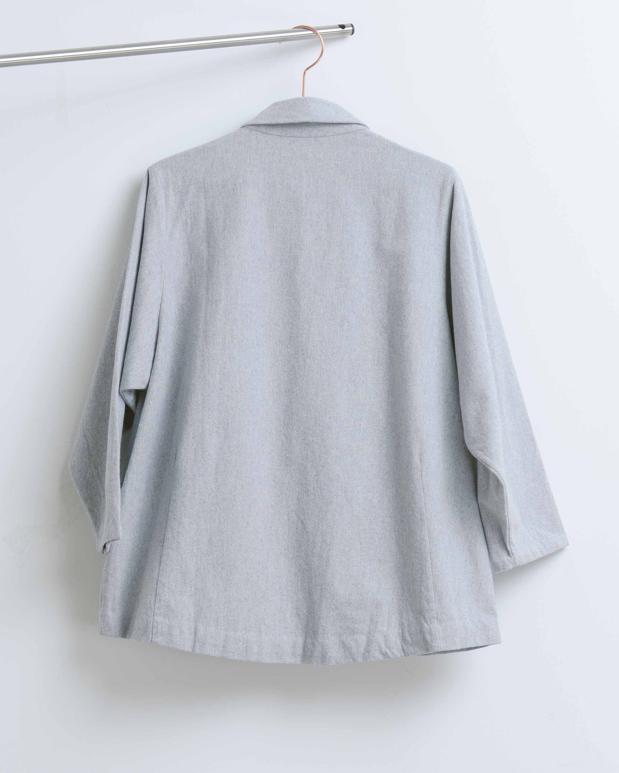 Grey Eucalyptus Front Zip Jacket