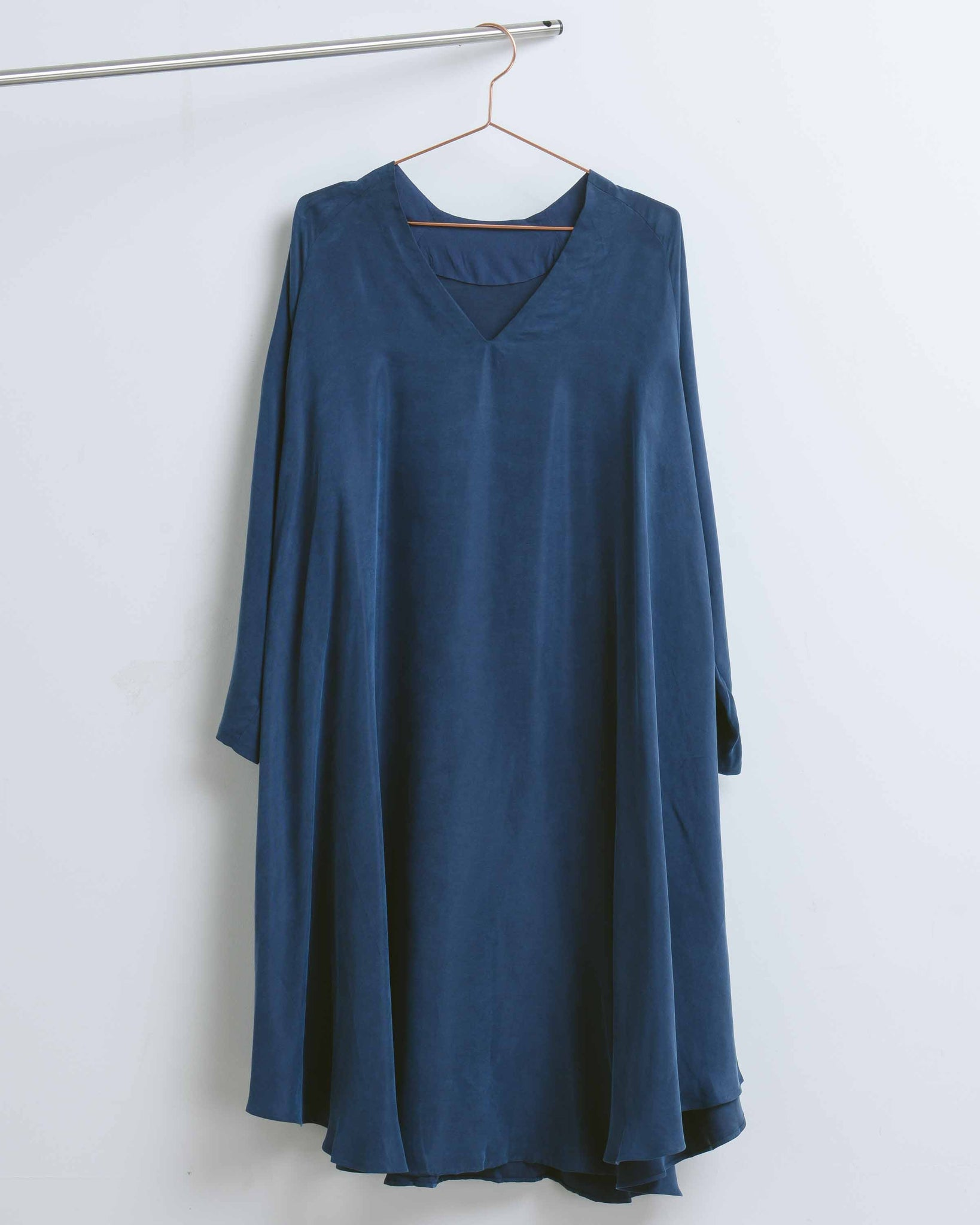 Dark Blue Sappo Tent Dress