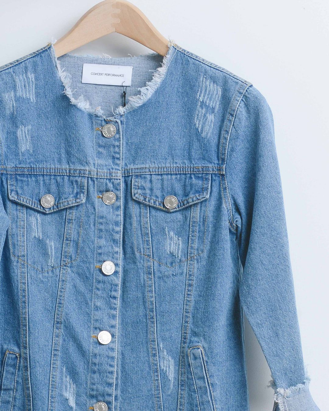 Denim Raw Edge Jacket