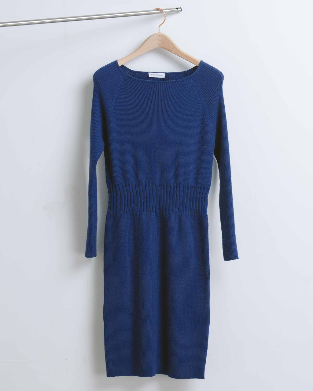 Navy Rib Knit Dress