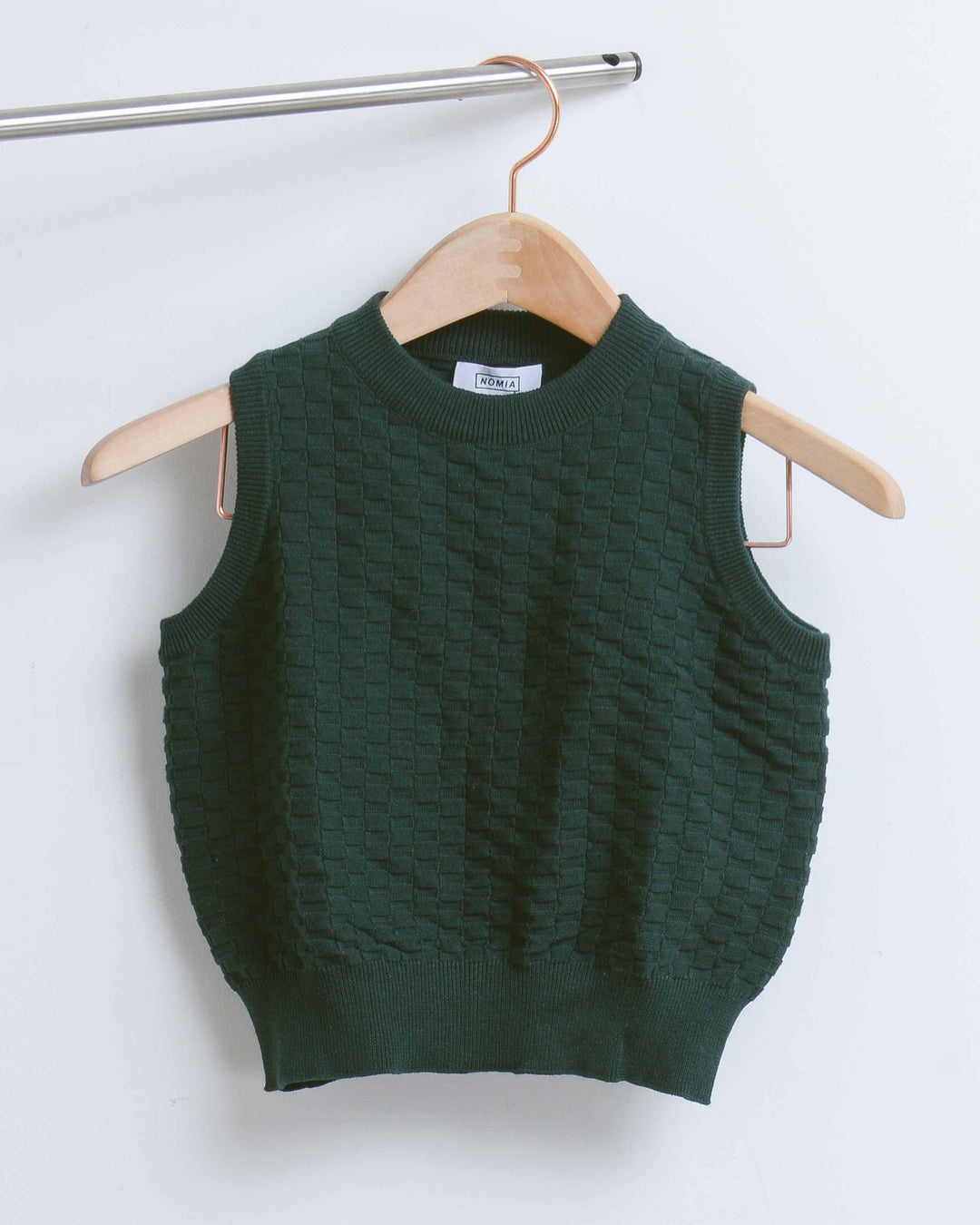 Forest Cropped Knit Vest