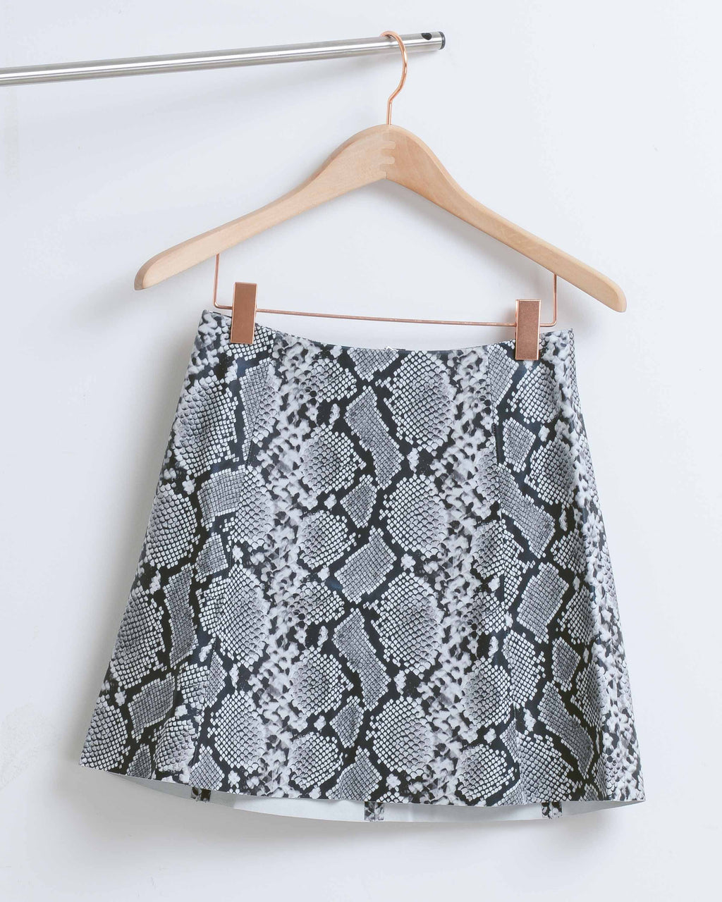 Snake Leather Circle Skirt