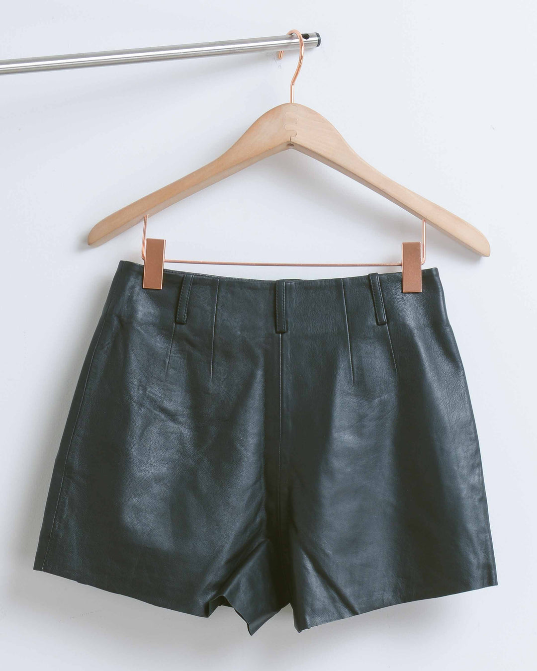 Black Bess Leather Short