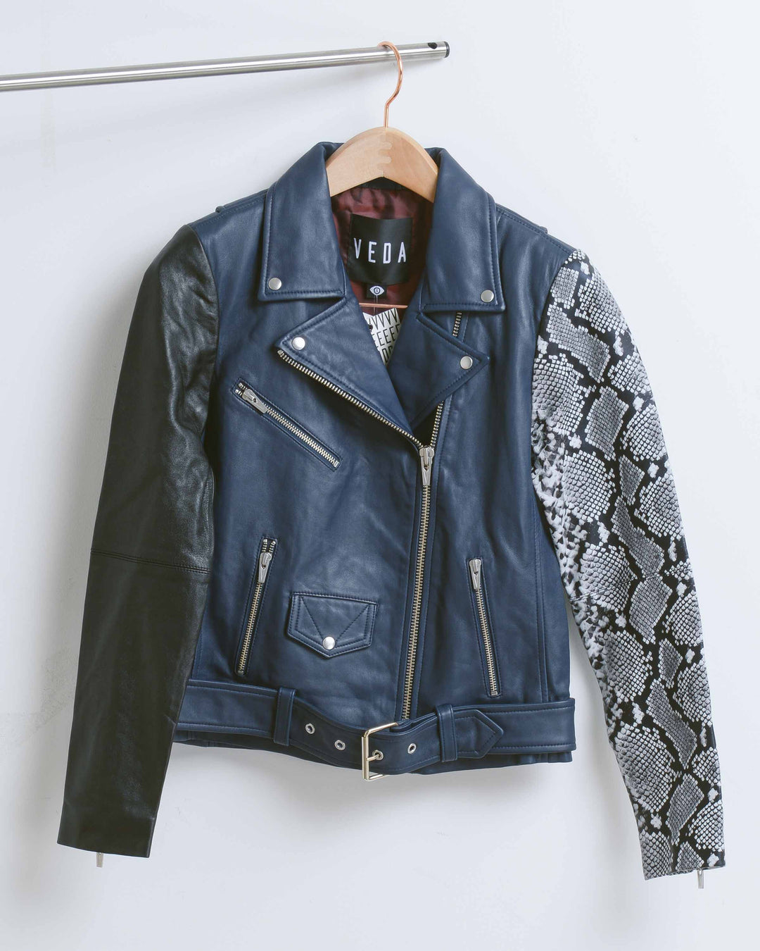 Snake Jayne Combo Leather Jacket