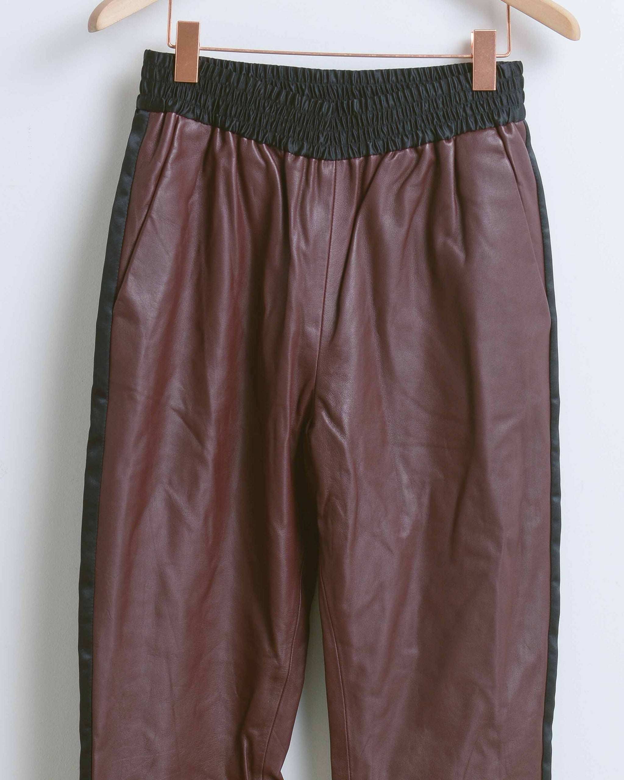 Merlot Rival Leather Pant