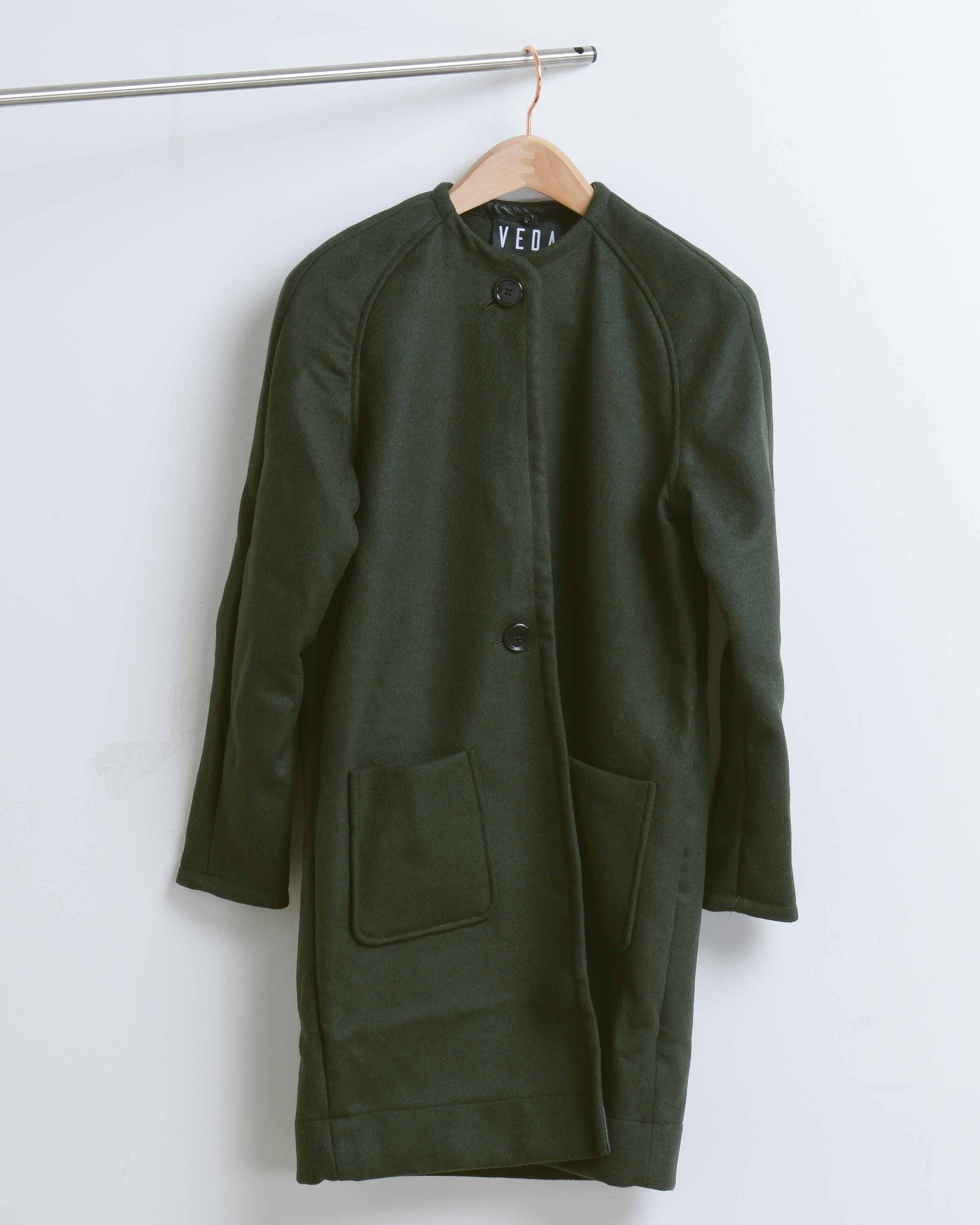 Moss Monogram Wool Coat