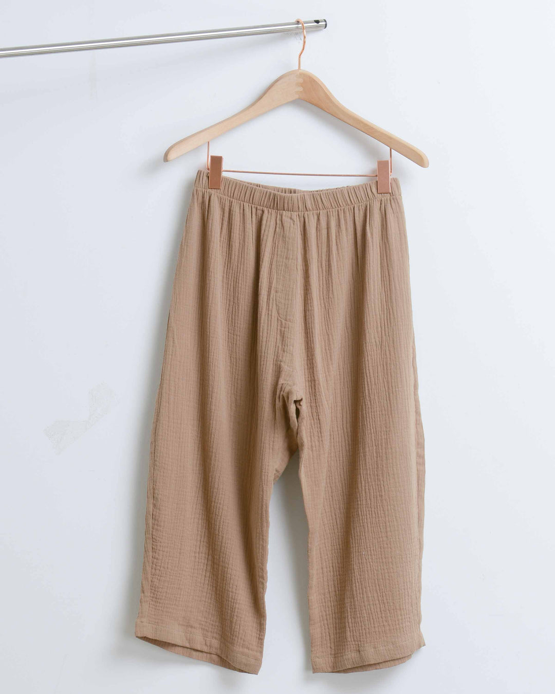 Cropped Brown Extra Soft Cotton Pant
