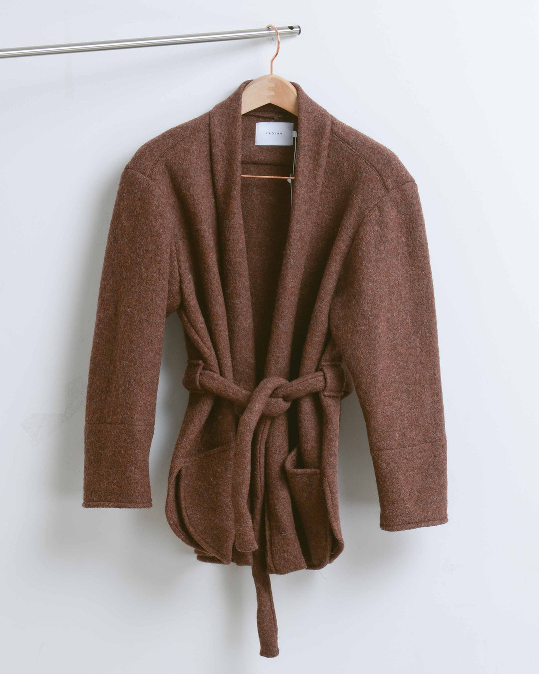 Maroon Wool Short Robe Jacket