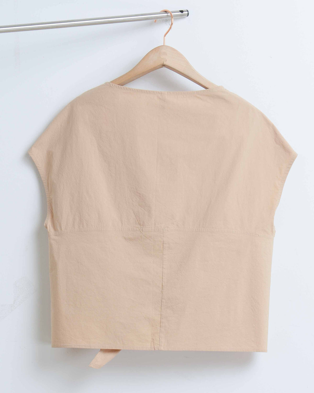 Sand Cotton Front Tie Tee