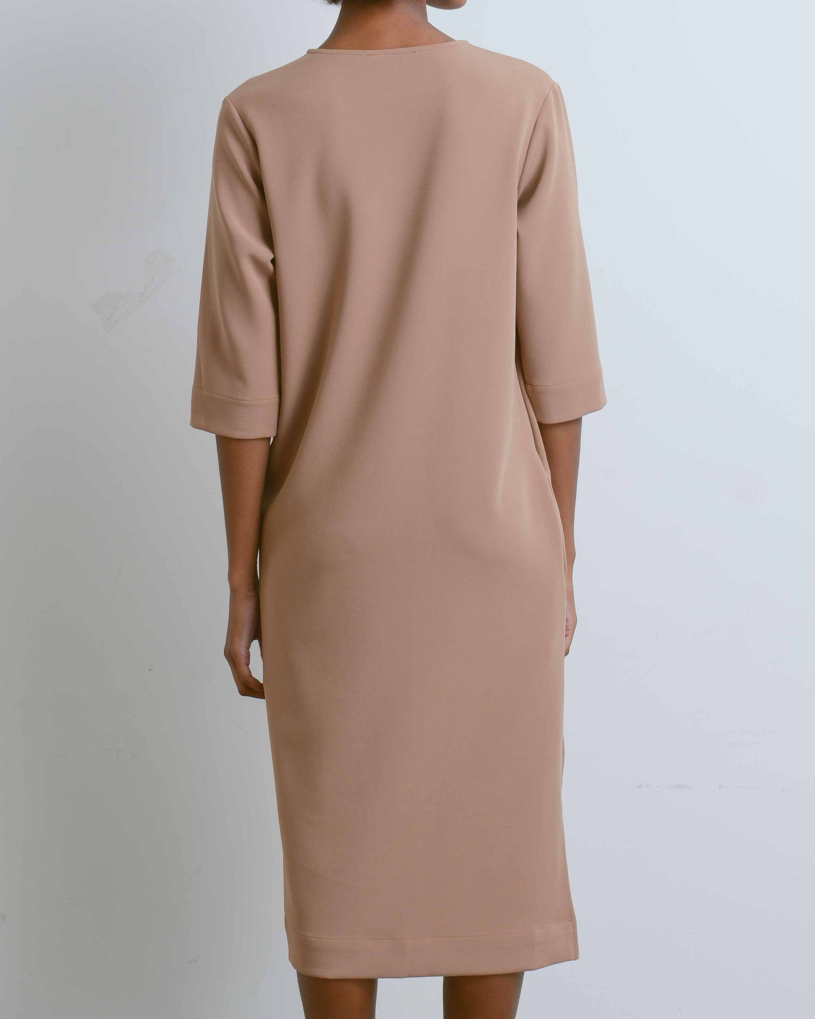 Camel Knot Drape Dress