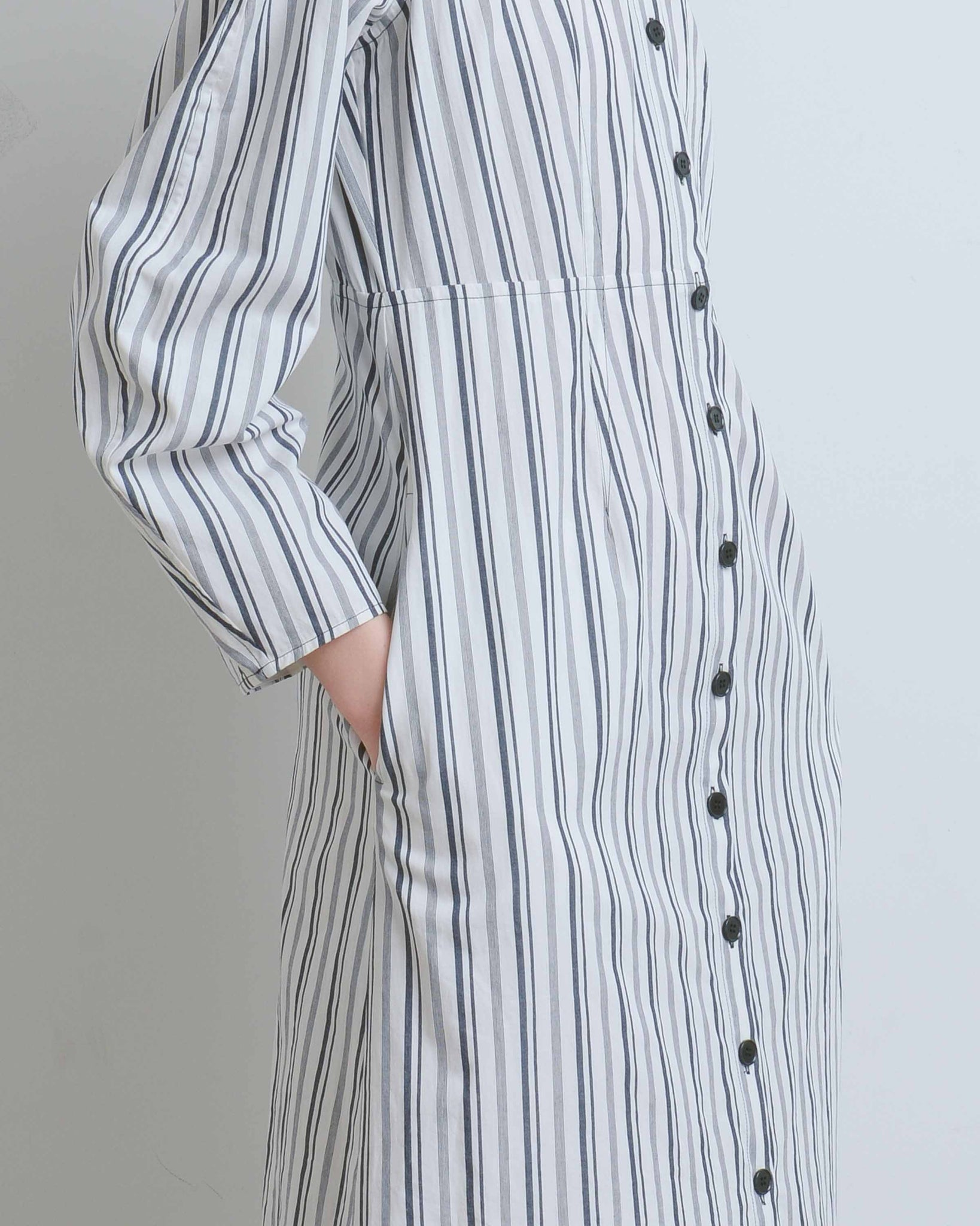 Chelsea Cotton Stripe Coat Dress